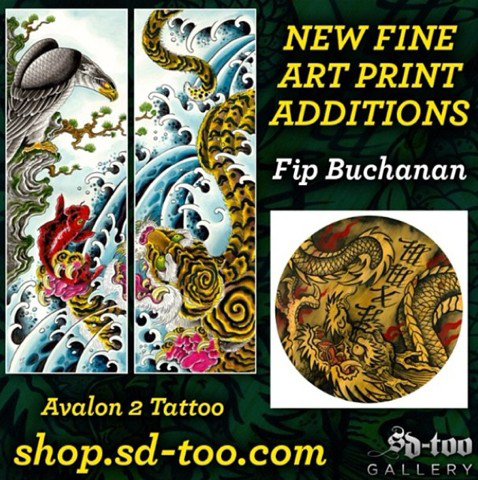 Fip Buchanan - New Fine Art Print Additions - Avalon 2 Tattoo - shop.sd-too.com